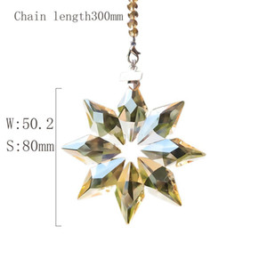 80mm Snowflake Crystal Pendants For Chandeliers Crystals Prisms Suncatcher Pendants Hanging Ornament With Chain Gifts Car Decor H jllojN