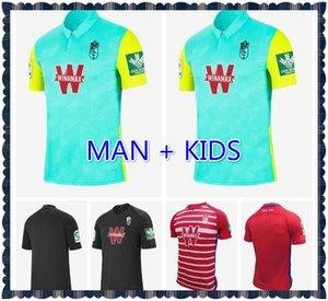 Com patches 2020 2021 Granada futebol jerseys 20 21 Soldado Fernandez Machis Puertas F.Vico Camisas de futebol Meninos Azeez Herrera Mens Kit Kit