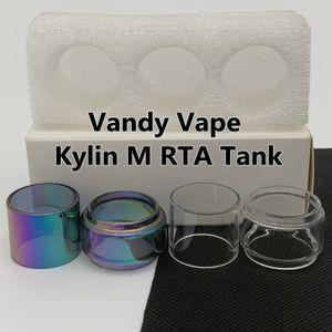 VANDY Vape Kylin M RTA Tankı Normal 3 ml Ampul Tüp 4.5 ML Temizle Gökkuşağı Yedek Cam Tüp Genişletilmiş Kabarcık Fatboy