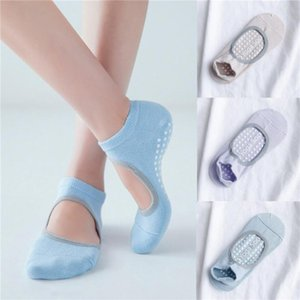 Women High Quality Pilates Socks Anti-Slip Breathable Backless Yoga Socks Ankle Ladies Ballet Dance Sports For Fitness Gym