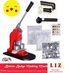 """37mm (1,5 """") Tin-Button-Abzeichen-Kit DIY-Taste Maschinenabzeichen Pressehersteller + 500pcs Button Leere Abzeichen Pin Material und Papierkreisschneider"""
