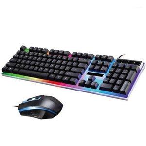 Keyboard Mouse Combos Wired USB Освещение Механические Ощущение Компьютерные Наборы для PS4 / PS3 / One и 360 USA Фото Fast Drop 1