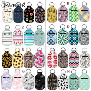 4pc Small Empty Travel Refillable Containers 30ml Flip Cap Reusable Bottle Hand Sanitizer Keychain Carrier Holder