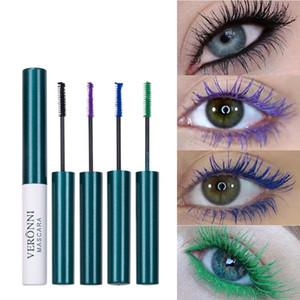 VERONNI Makeup Color Mascara Waterproof Fast Dry Eyelashes Curling Lengthening Volume-Express Eye Lashes Blue Purple Mascara