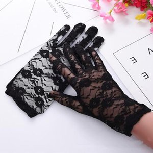 High Quality Party Sexy Dress Gloves Women Lady Lace Mittens Accessories Sunscreen Summer Full Finger Girls Lace Fashion Gloves