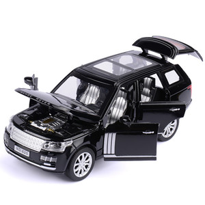 1:32 Range Rover SUV Simulation Toy Car Model Alloy Pull Back Children Toys Collection Gift Off-Road Vehicle Kids 6 open door Y1130