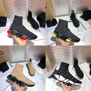 Hommes 2.0 Black Tech 3D Baskets à lacets tricotés Femmes Designer Chaussures Stretch Chaussette Sneaker Bottines Chaussures Casual Chaussures de sport avec boîte