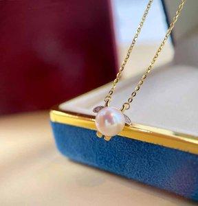 Luxuriöse Qualität Anhänger Halskette in 8,0 cm und Diamant für Frauen Hochzeit Schmuck Geschenk PS8128