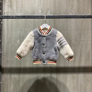 2021 Limited edition baseball collared woollen coat for boys and girls