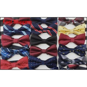 Hot Sale New Unisex Neck Bowtie Bow Tie Adjustable Bow Tie High Quality Metal Adjustment Buckles Multi-Style Mk6Pj
