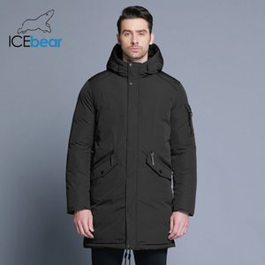 ICEbear new high quality winter coat simple fashion coat big pocket design men's warm hooded brand fashion parkas MWD18718D 201119