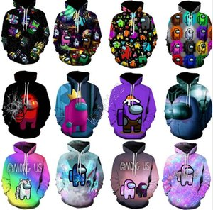 Among Us Letters Hoodies Unisex 3D Hooded Pullover Hip Hop Fashion Sweatshirts Men Women Blouse Sweater Tops Adults Clothes New D112602
