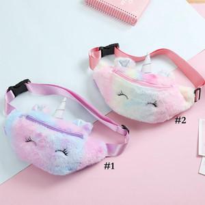 Unicorn Plush Plush талия сумка милый мультфильм дети Фанни пакет девушки ремень сумка мода путешествия телефон сумка сумка сумка для хранения BWC4137