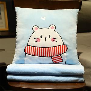 B-Life Manta Almohada Convertible Viaje de Lujo Manta Microfibra Dulces Sweet Sweet For Couch Bed Sala de estar y Silla de oficina Y1224
