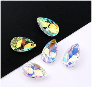 Migliore Qualità 22mm 6106 Pendente a forma di pera Goccia di rhinestones Perline Gens per orecchini Collana Accessori per gioielli fai da te 1 Qylum