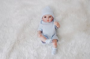 Full Body Soft Silicone Babies 28CM Imitation Realistic Reborn Baby Boy Dolls Child Gifts Boys Toys