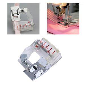 5-20mm Encuadernación ajustable Snap-On Bias Binder Pie para el pie para la costura doméstica Máquina superpuestas Accesorios Presser Pie Tools1