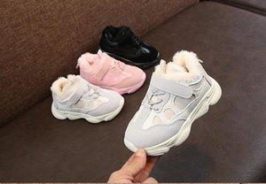 Kinder Sneaker 2021 Winter Herbst Kind Leder Schuhe Jungen Mädchen Baby Laufschuhe Weichen Boden Plüsch Warme Schuhe Sport Turnschuhe