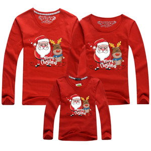 Christmas Clothes New Baby Kid Dad Mom Matching Family Outfits Christmas Deer Print Family Parent-child Long Sleev T-shirts