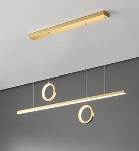 Living Room Chandelier Modern LED Restaurant Chandelier Villa Clubhouse Lighting Creative Designer Model Room Chain Light