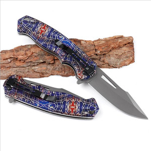 Special Offer Assisted Fast Open Flipper Folding Knife 440C Grey Titanium Coated Blade Steel + Wood Handle Survival Tactical Knife