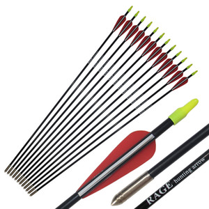 Children Youth Arrows Archery 64cm 25inch Fiberglass Arrows 7mm Diameter Hunting for Recurve Bow Target Practice