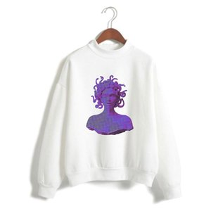 2020 NEW Vaporwave electronic dance music 2D Print Women Men Clothes Turtlenecks Long Sleeve High collar sweatshirt