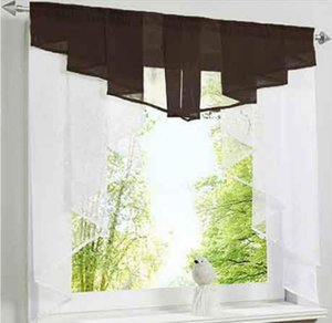 Hot Sale Cafe Curtains for Kitchen New Design Stitching Roman Kitchen Pelmet Valance Tulle Curtain Decorative Items