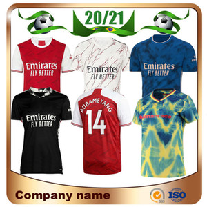 20/21 Gunners Home Soccer Jersey 2020 Pepe Nicolas Ceballos Henry Guendouzi Sokratis Mailes-Niles Tierney Football Shirt Oechs