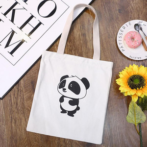 Women Casual Bags Fashion Print Funny Women's Canvas Torebki Damskie Shopping Bag Travel Large Capacity Reusable Shoulder Bag