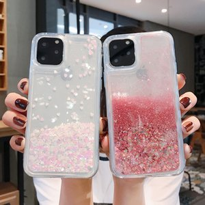 Liquid Quicksand Bling Glitter Phone Cases For iPhone 12 11 Pro Max XS MAX X XR 6 6S 8 7 Plus Water Shine Silicon Soft Transparent Cover