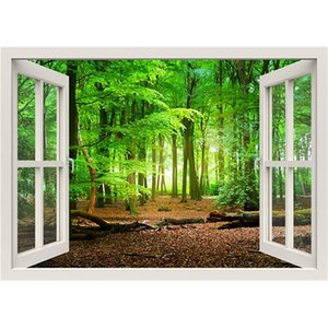 3D Effect Window View WALL STICKERS Nature Forest wall Vinyl Decal Decor Mural Landscape Art Home Decor Gift 201130