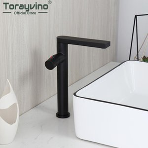 Torayvino Matte Black Bathroom Faucet Single Handle Basin Sink Deck Mounted Faucets Washbaisn Hot And Cold Mixer Water Tap