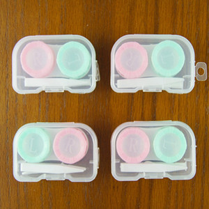 50psets lot 4 in 1 kits Companion box Empty contact lens box Eyeglasses Case Container colorful