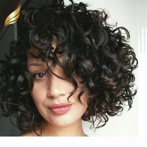 Big Curly Front Lace Wig Virgin Human Hair Wig Natural Color for Black Women 130% 150% density Bella Hair Free Shipping