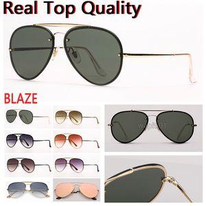 mens sunglasses blaze aviation sunglasses fashion sun glasses UV protection lenses and free leather case, retail box all accessories!
