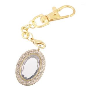 10 teile / los oval dickglas offene kristall stein merklappe schlüsselring speicher lebende magnet glas schlüsselanhänger merbel für schwimmende charms1