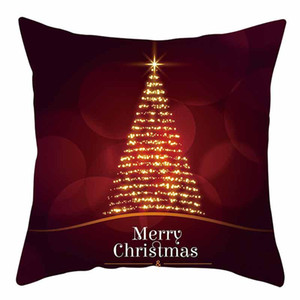 Christmas Cushion Cover 45*45 Christmas Cotton Linen Throw Pillow Case Cushion Cover Home Sofa Sofa Home Decoration Pillowcase