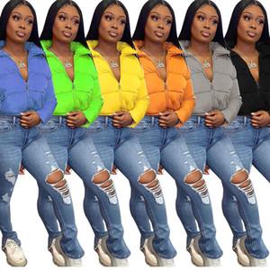 2020 Зимнее пальто Женщины Теплый пуховик Мода Новый Длинный Рукав Кардиган Сохраняйте теплую утки Потомкая Одежда Женская Теплый хлеб