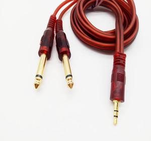Jack-Kabel 3,5 mm, um 6,35mm AUX-Kabel 2mono 6,5-Buchse bis 3,5-Stecker für Mischer-Verstärker-Lautsprecher-Auto 6,5mm 3.5 Jack-Splitter-Kabel 1,5m
