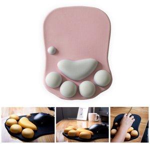 3D Bonito Mouse Pad Anime Macio Cat Paw Mouse Pads Pulso Resto Suporte Comfort Silicon Memory Soam Gaming Mousepad Mat 201027