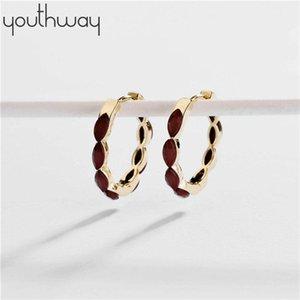 Horse-eye resin hoop Earring 25mm Small Huggie Hoop Earrings Minimal Charming Earrings Stud Thin Hoops Gift