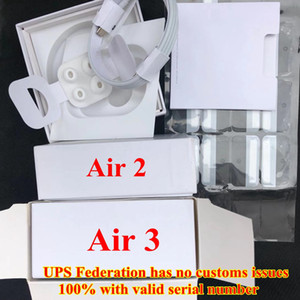 2021 With valid serial number Headphones Generation 3 pro AP3 H1 earphones Chip pop up Wireless Bluetooth headset pk pods 2 AP2 Earbuds 2nd