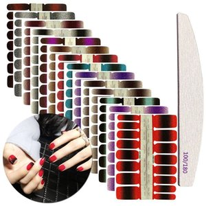 16tips Stickers Colorful Self-adhesive Nail Art Wraps Hot Sale Fashion Nail Polish Stickes Manicure Full Wrap Tools Decorations