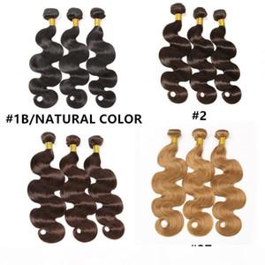 Малайзийские индийские бразильские волосы волосы пачки перуанской волны волосы волосы натуральный цвет # 1 # 2 # 4 # 27 Наращивание волос человека