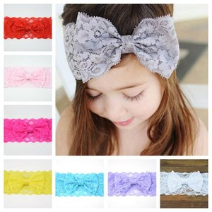 Children Hair Accessories For Girls Baby Headbands Fashion Bow Lace Headband Baby Accessories Hair Bands Hair Things EWA2700