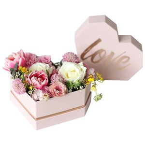 Shaped Present LOVE Letter Heart Bronzing Flower Container Wedding Engagment Birthday Valentine Day Gift Package Box