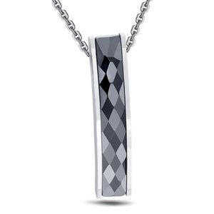 High Quality Black Ceramic Simple Pendant Necklace With O Stainless Steel Chain Necklace For Women jewelry