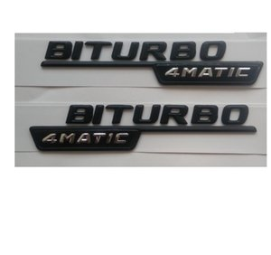 """Newest """" BITURBO 4MATIC """" ABS Plastic Car Trunk Rear Letters Badge Emblem Decal Sticker for Mercedes-Benz AMG"""