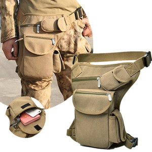 Men Canvas Drop Leg Bag Waist Bag Fanny Pack Belt Hip Bum Travel Multi-purpose Motorcycle Messenger Shoulder